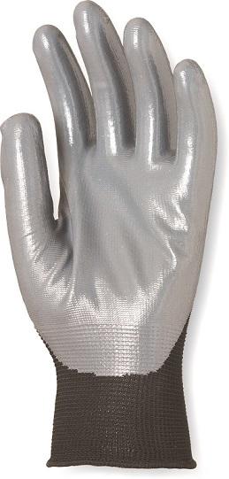 Rukavica poliester crna sa sivim nitrilnim premazom