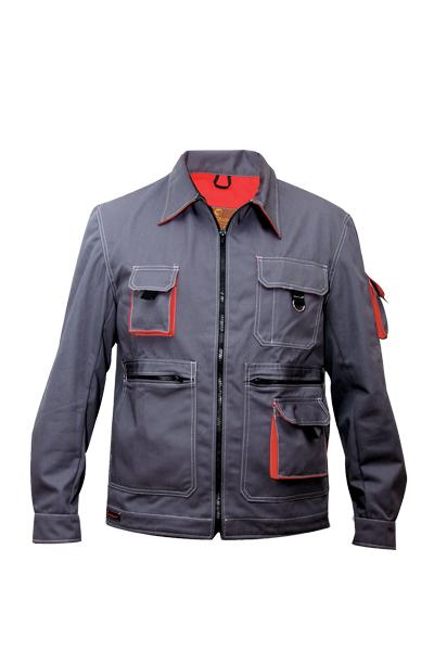 Bluza radna BOND sivo/crvena