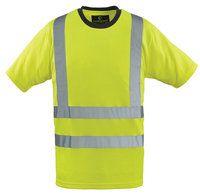 Majica T-shirt visoke vidljivosti s 3M trakama žuta