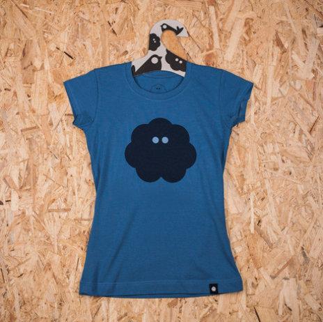 Ženska majica SVAKODNEVKA S POVRĆEM plava