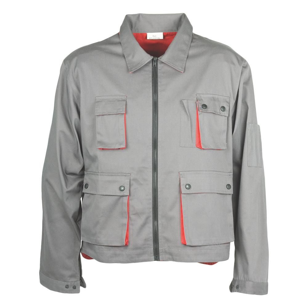 Radna jakna CLASSIC PLUS sivo/crvena