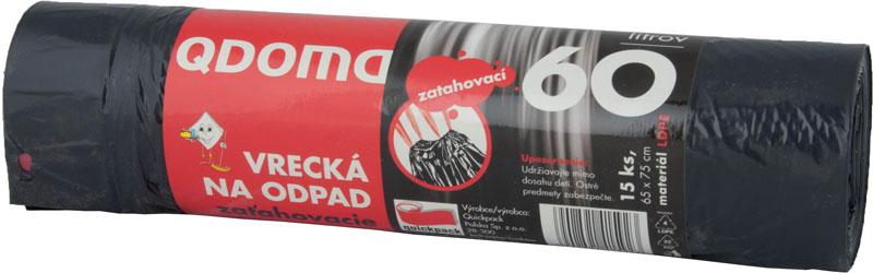Vreća za smeće crna 60L (10kom/pak)