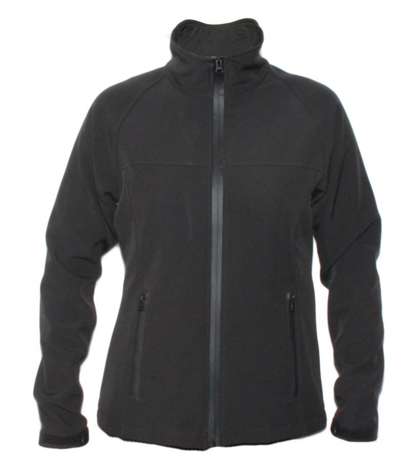 Softshell jakna ROLAND ženska,crna sa crnim zatvaračem
