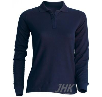 Ženska polo majica dugi rukav, plava