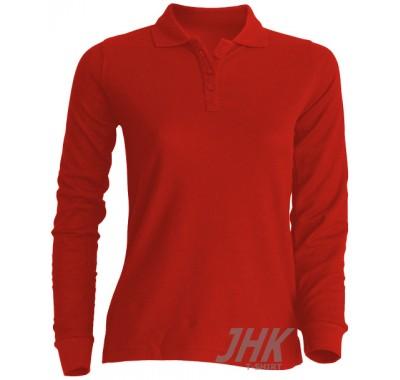 Ženska polo majica dugih rukava, crvena