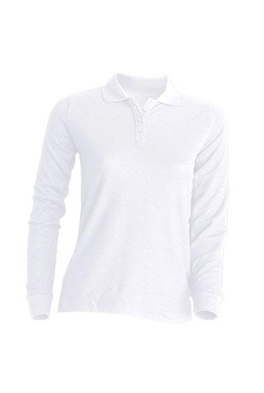 Ženska polo majica dugih rukava, bijela