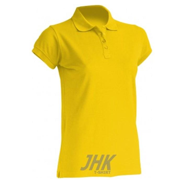 Women s polo shirt short sleeve gold yellow size S  a97791349