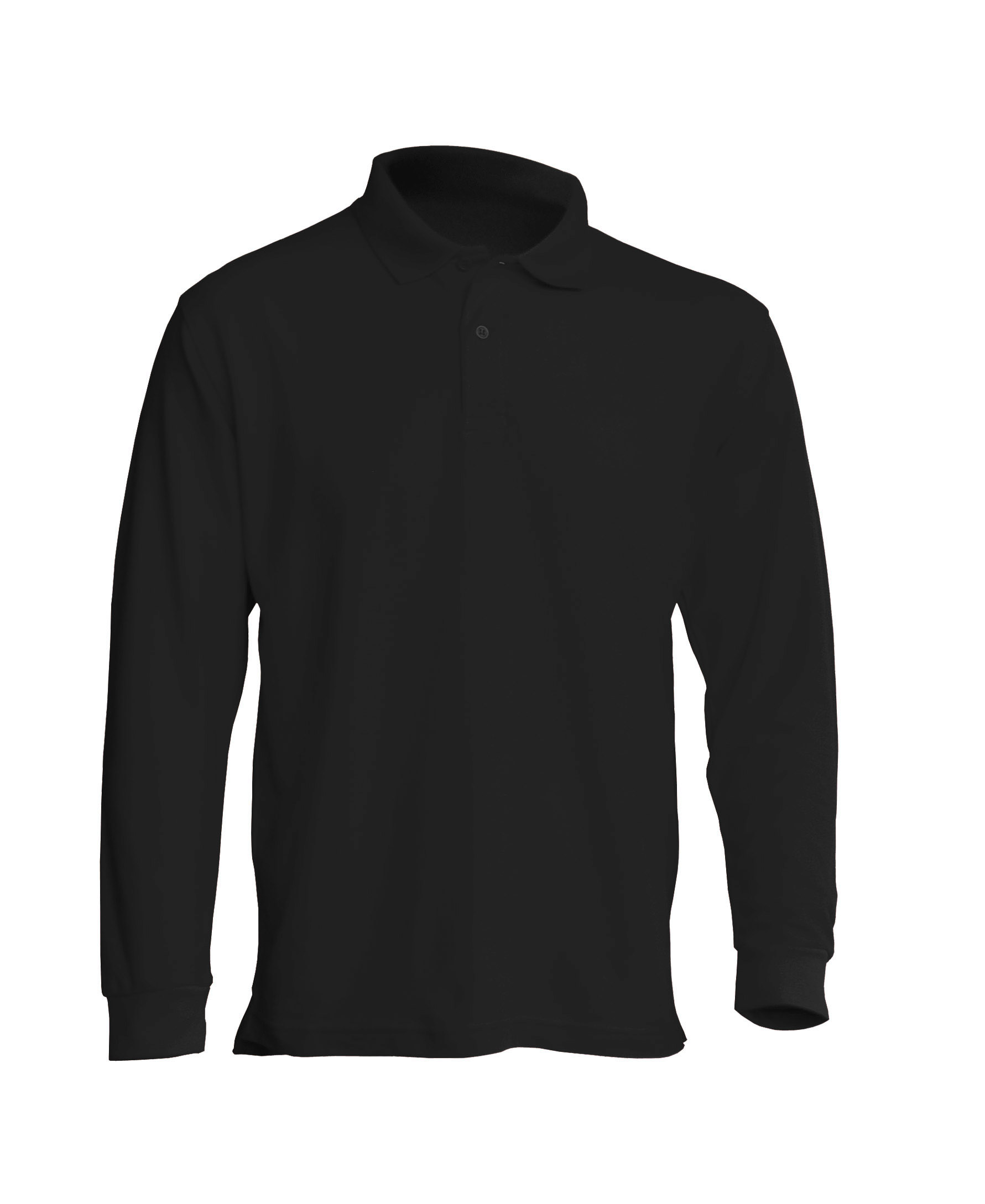 Muška polo majica dugih rukava, crna