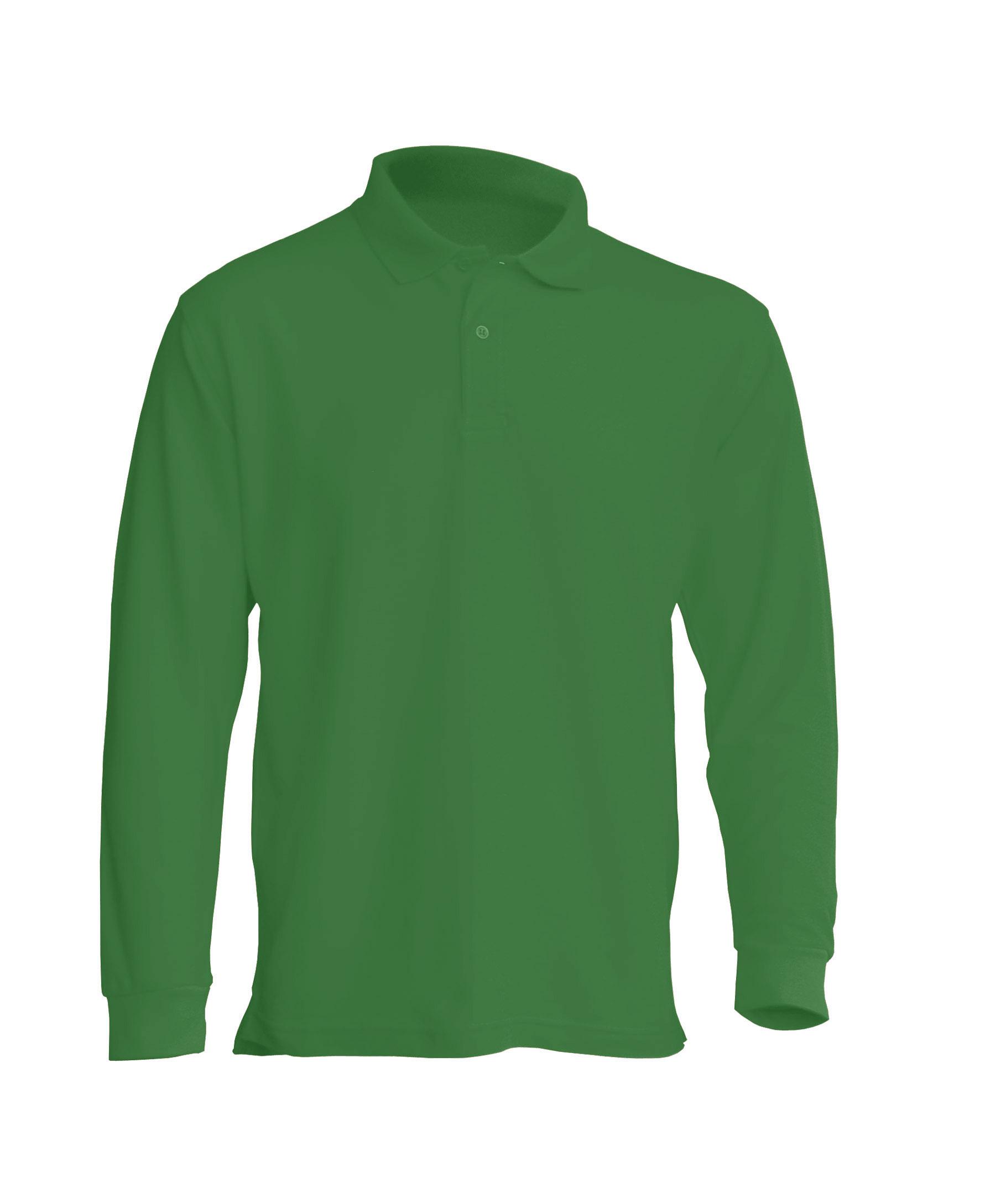 Majica polo dugi rukav kelly green