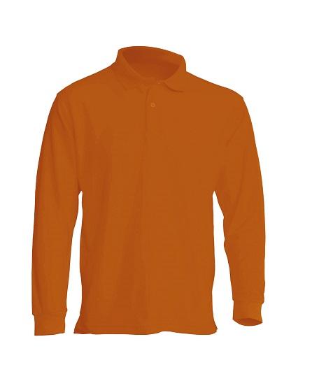 Majica polo dugi rukav narančasta