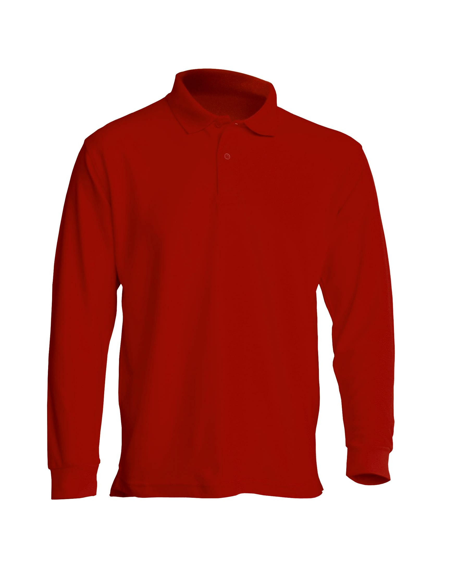 Muška polo majica dugih rukava, crvena