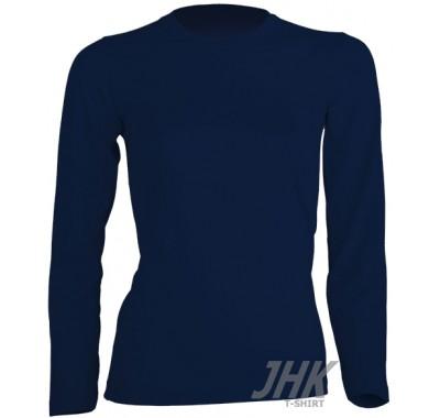 Ženska T-shirt majica dugi rukav plava