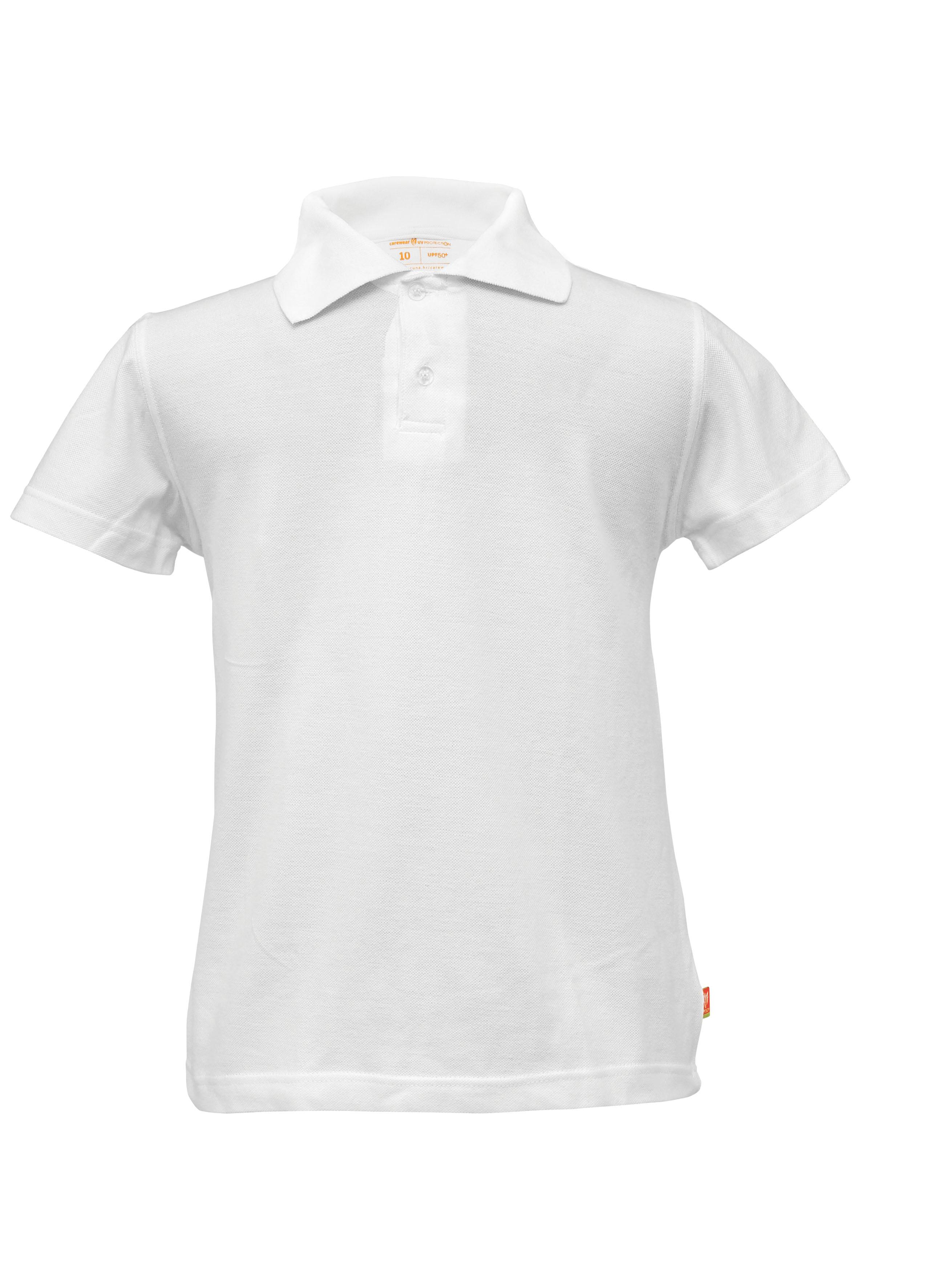 Polo bijela UV majica dječja kr.r.