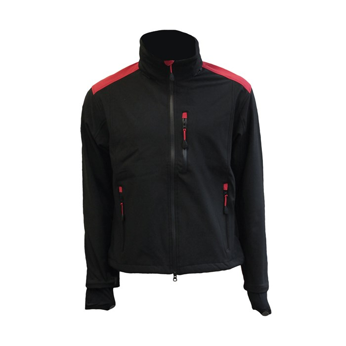 Softshell jakna DANTE crno-crvena